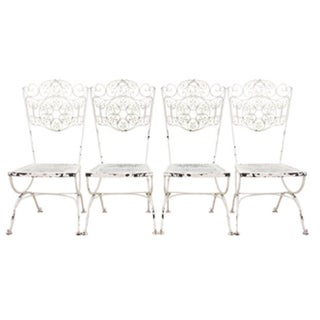 French Cafe Style Bistro Chairs, Pair