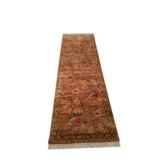 Traditional Handmade Knotted Rug - 3′ × 10′3″