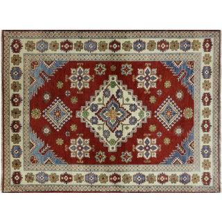 """Oriental Hand Knotted Wool Kazak Rug- 5'1"""" x 6'7"""""""