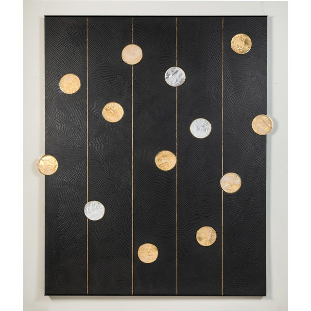 Art Wall Panel with Texture and Rock Crystal by Paul Marra - Image 11 of 11
