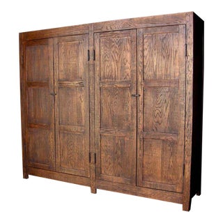 Custom Large Oak Wood Cabinet or Wardrobe
