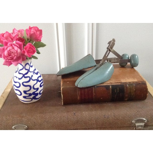 Blue Wooden Shoe Molds - A Pair - Image 3 of 5