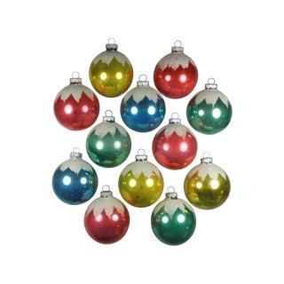 Shiny Brite Snowcap Ornaments - Set of 12