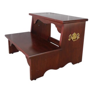 COLONIAL FURNITURE CO. Cherry Chippendale Style Bedside Steps