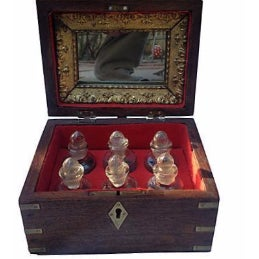 Victorian Vanity Case with Bottles