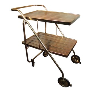 Vintage Mid-Century Rolling Bar Cart