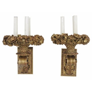 Gilt Carved Sconces - Pair