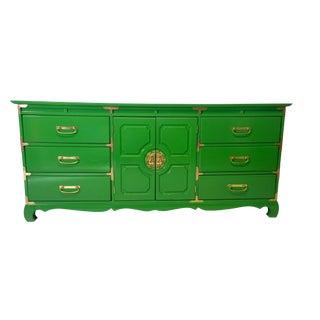 Asian-Style Bassett Dresser Green Lacquer