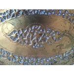 Image of Large Oval Moroccan Brass Tray