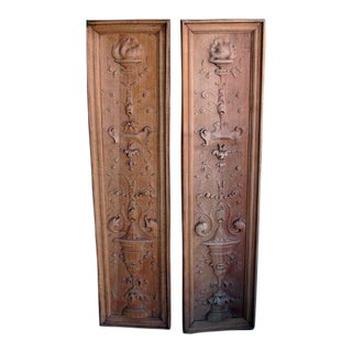A Finely Carved Pair of French Classical-Revival Walnut Panels