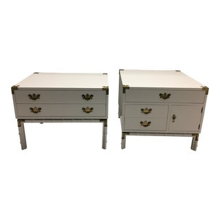 1960's Hollywood Regency Side Tables - A Pair
