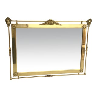 Neoclassical Brass Mirror