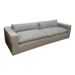 Reupholstered Restoration Hardware Petite Cloud Track Arm Sofa