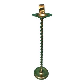 Vintage Brass Twist Ashtray Stand