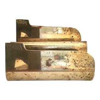 Mid-Century Modern Etched Brass Letter Holder