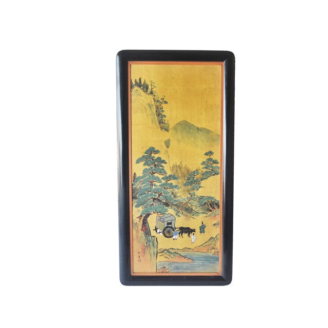 Japanese Carts Painting - Image 1 of 4