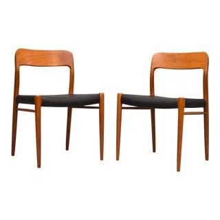 Niels Otto Møller #75 Teak Chairs - A Pair
