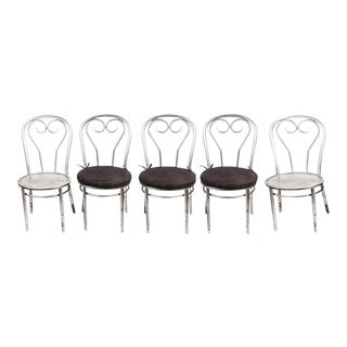 Metal Cafe-Style Bistro Chairs - Set of 6