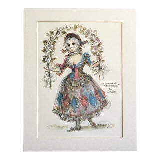 "Vintage Stratford Festival Design Folio, Shakespeare's ""The Taming of the Shrew"" Costume Print"