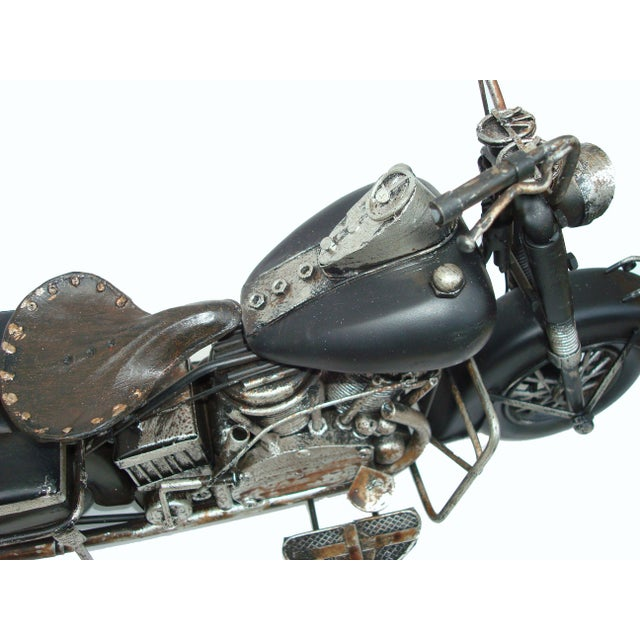 Metal Motorcycle With Moving Parts - Image 5 of 7