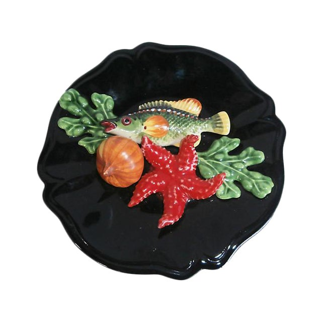Majolica Fish Wall Platter - Image 1 of 2