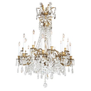 Crystal & Bronze 18-Light Chandelier from the Ritz Carlton on Palm Beach