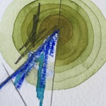 Image of Green Single Totem Painting on Paper