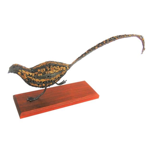Image of Mid-Century Brutalist Pheasant Sculpture