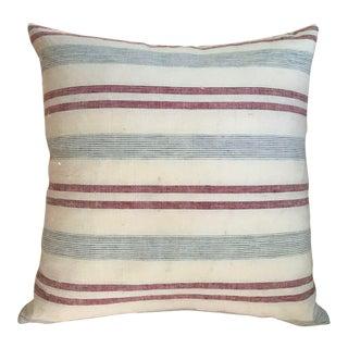 Blue and White Stripe Custom Pillow