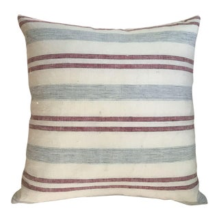 Blue and White Stripe Custom Pillow