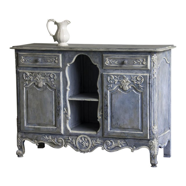 Antique French Louis XV Style Painted Walnut Buffet circa 1900 - Image 1 of 7