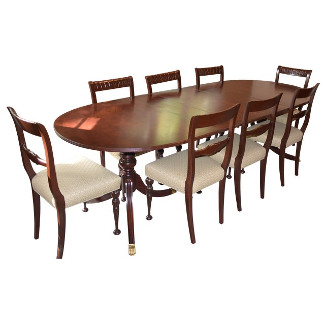 Image of 1930 Duncan Phyfe/Federal Style Dining Set