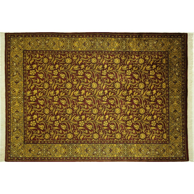 "Suzani Collection Oushak Floral Rug - 6'2"" x 8'10"" - Image 1 of 10"