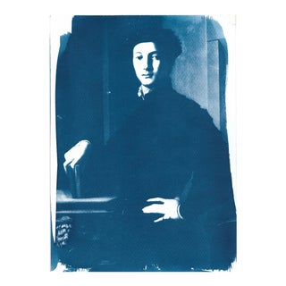 Young Man Portrait of Bronzino Cyanotype Print