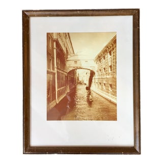 Vintage Sepia Photograph of Venice