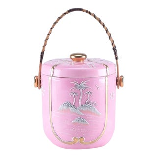 Pink Chinoiserie Ice Bucket