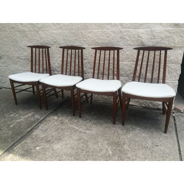 Mid-Century Oak Dining Chairs - Set of 4 - Image 2 of 7