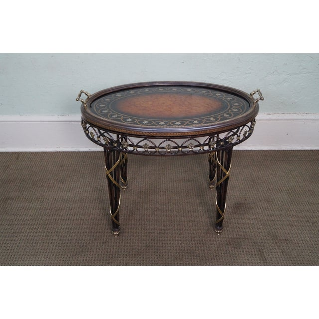 Brass Tray Coffee Table Vintage: Maitland Smith Iron & Brass Tray Top Coffee Table