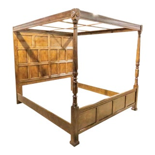 Henredon Heritage Queen 4-Poster High Back Canopy Bed