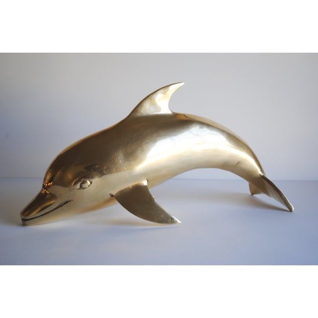 Large Vintage Brass Dolphin - Image 4 of 5
