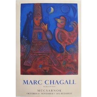 1972 Chagall Original Hungarian Mucsarnok Cathedral Poster