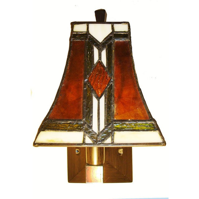 Tiffany Arts and Crafts Mission Style Sconces - Image 4 of 6