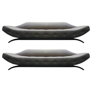 Mid Century Gondola Style Sofas - A Pair