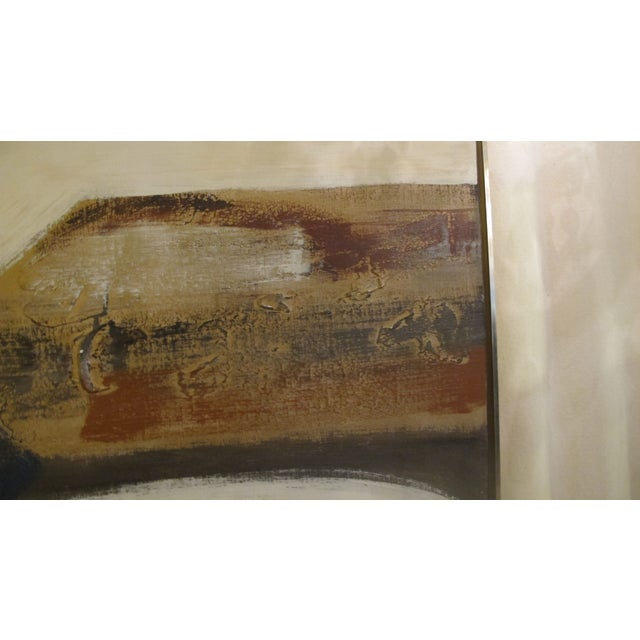 1970s Listed Artist Lee Reynolds Abstract Painting - Image 6 of 6