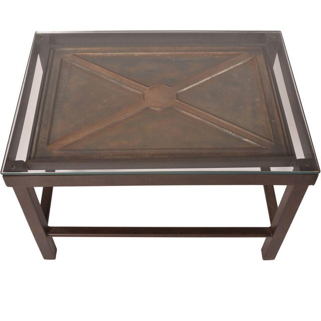 Reclaimed Iron Coffee Table - Image 2 of 5