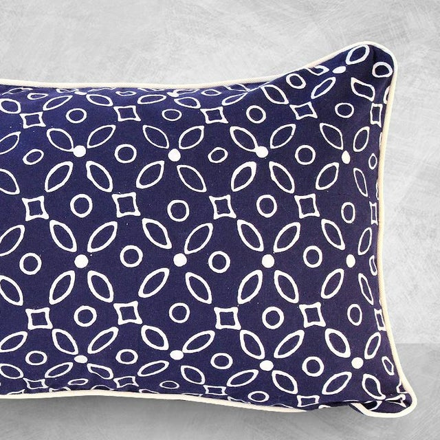 "Handmade ""Indigo Kawung"" Batik Pillow - Image 3 of 4"