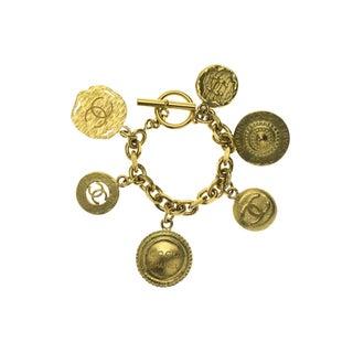 Chanel Vintage CC Charm Bracelet