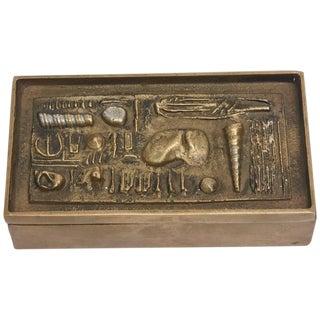 Signed Italian Arnaldo Pomodoro Bronze Sculptural Two-part Box