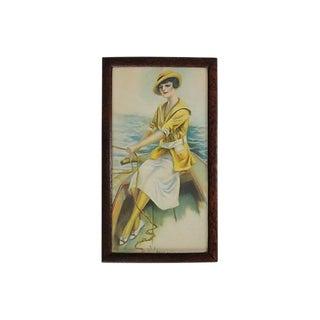 Vintage Nautical Gal Lithograph