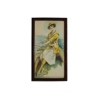 Vintage Nautical Gal Lithograph